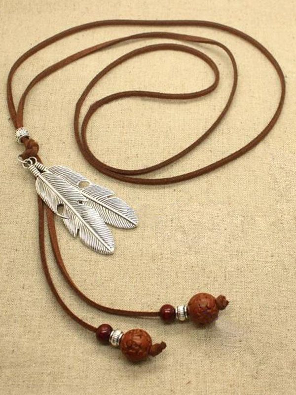 Feather Art Statement Necklace
