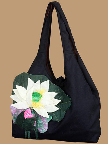 Ethnic Style Flower Embroidered Shoulder Bag