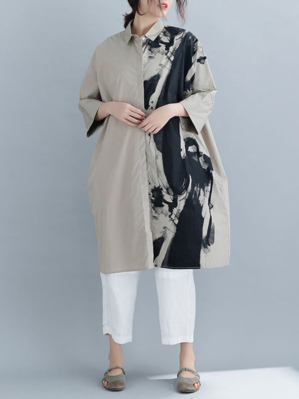 Bambalina Asym Splash Shirt Dress