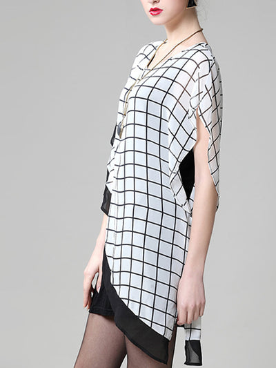 Grid Pane Cape Top