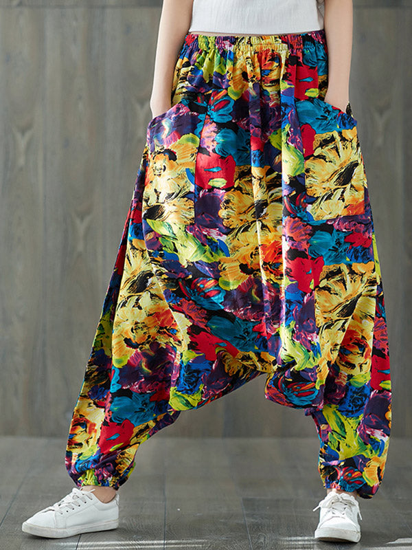 Oil Painting Harem Pants