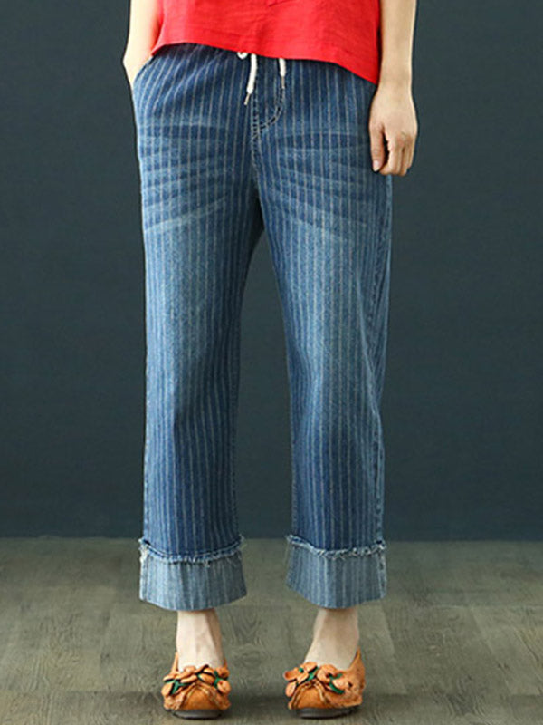 Stripe Folded Pants