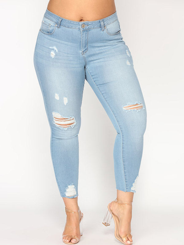 Light Washed Ripped Jeans
