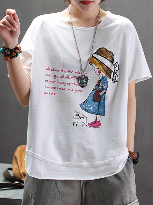 Valerie Cartoon Embroidery T-Shirt Top
