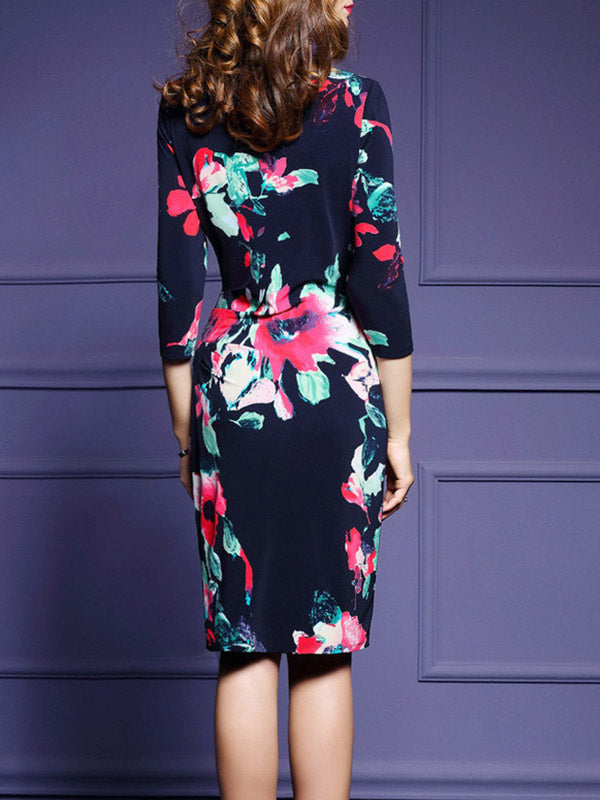 Queen Flower Midi Dress