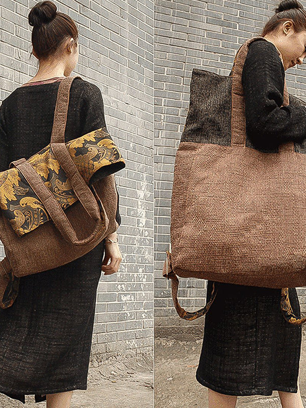 Vintage Large Casual Canvas Backback & Shoulder Bag