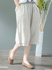 90's Era Cotton & Linen Cropped Trouser