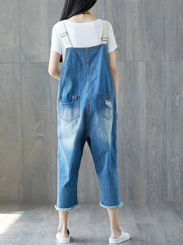 Ripped Lover Overall Dungarees(Pre-sale)