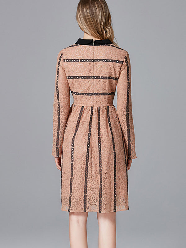 Stripes Field A-Line Dress