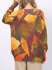 Knock Knock Autumn Season Print T-Shirt