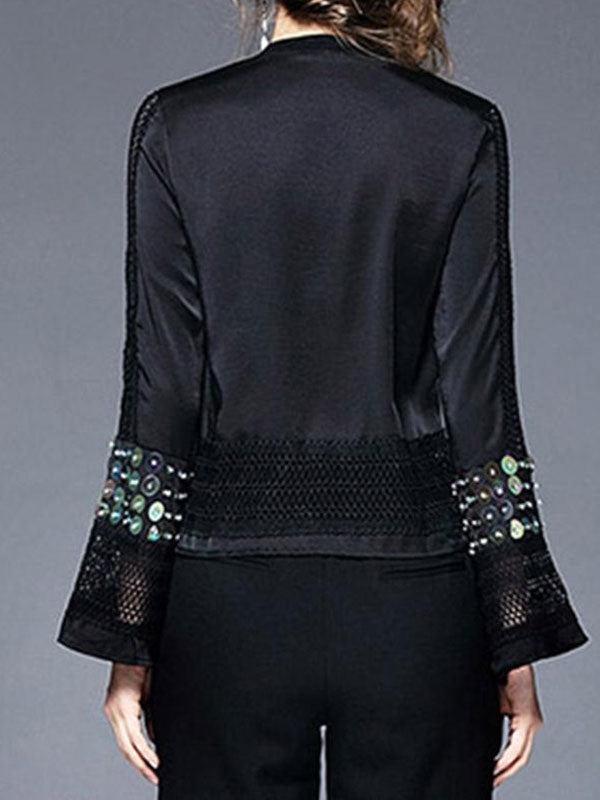 Bell Sleeve Sequin Party Top