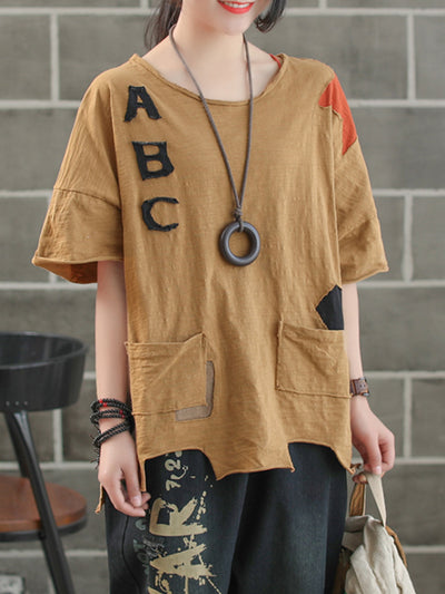 Cecilia Alphabetic Hemming T-Shirt
