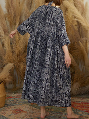 Power Of Black Tribal Print Cotton Smock Dress