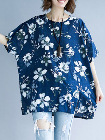 Forest Flower Tunic Top