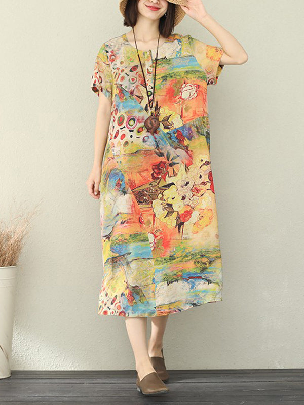 Art Of Legends Linen A-Line Dress