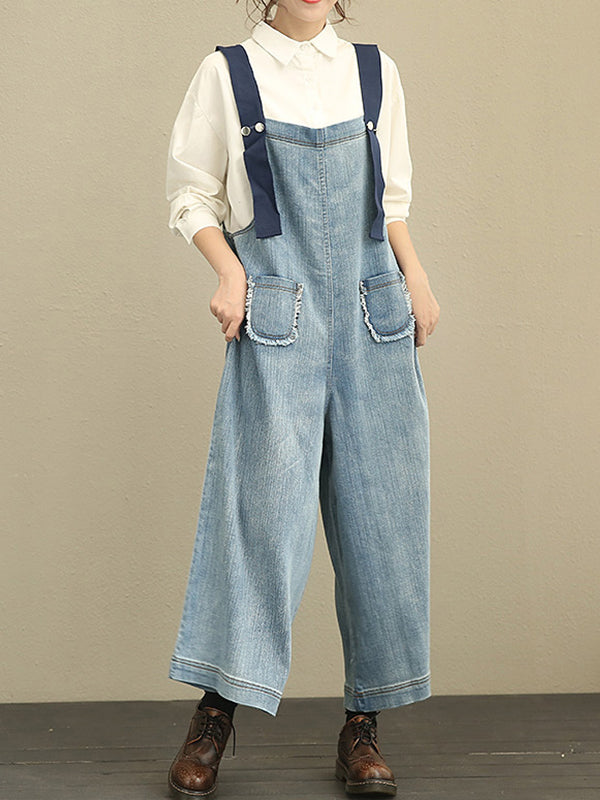 Denim Washed Overall Dungarees