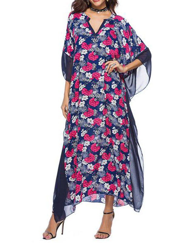 Print De Calico Kaftan Dress