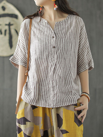 Like A Day Dream Linen Tunic  T-Shirt Top