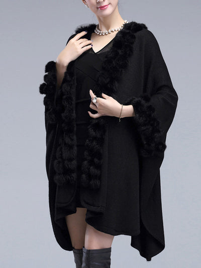 Blissfully Bundled Oversized Cape Cardigan