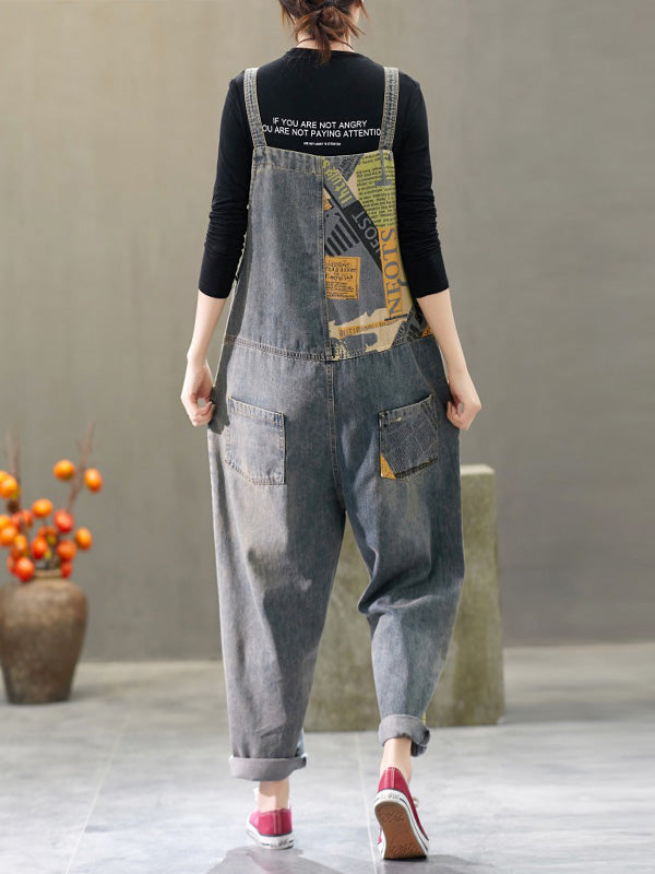 A Day In The Life Denim Overalls Dungarees