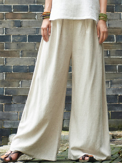 Metallic Emotion Wide Leg Pants