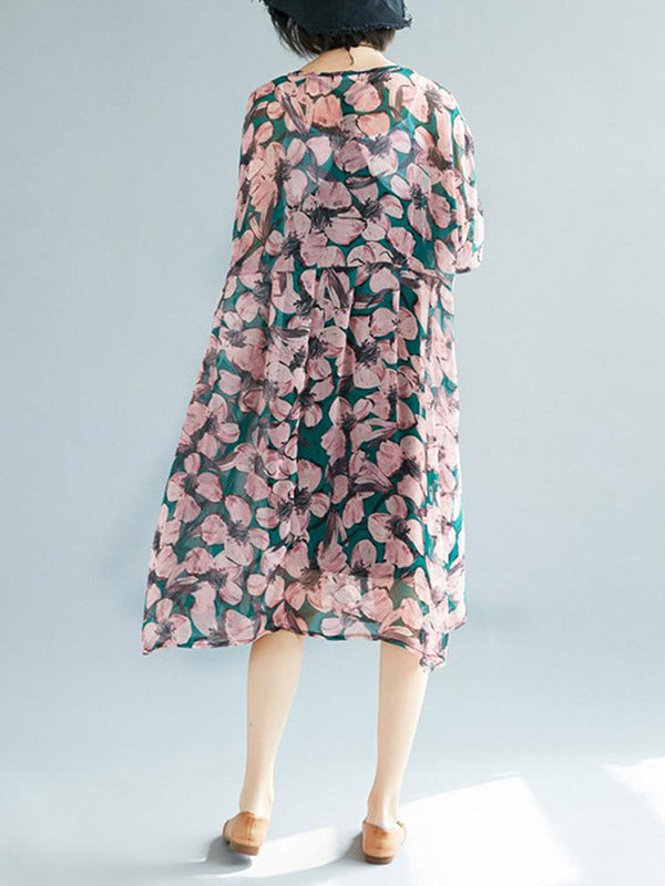Blossom Berry Smock Dress