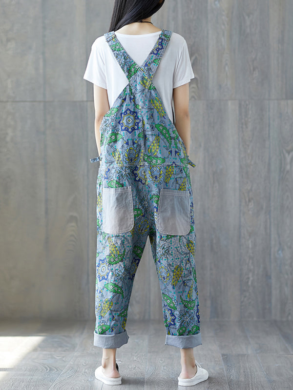 Floral Hawaii Overall Dungarees