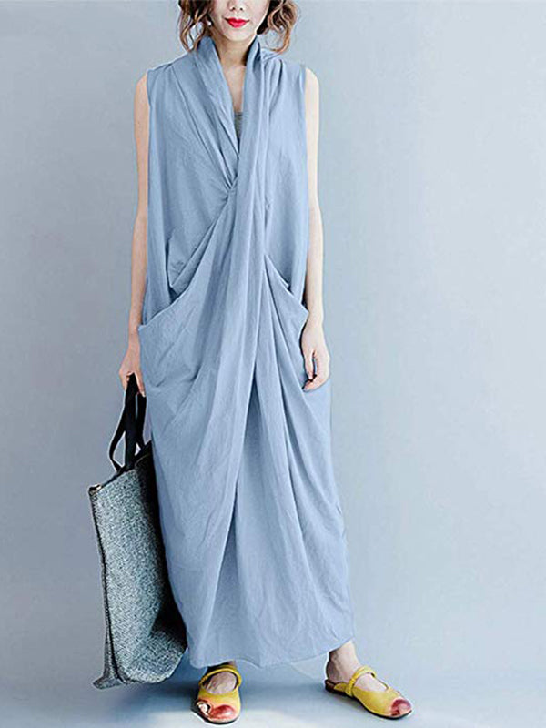 Intertwined Solidity Maxi Dress
