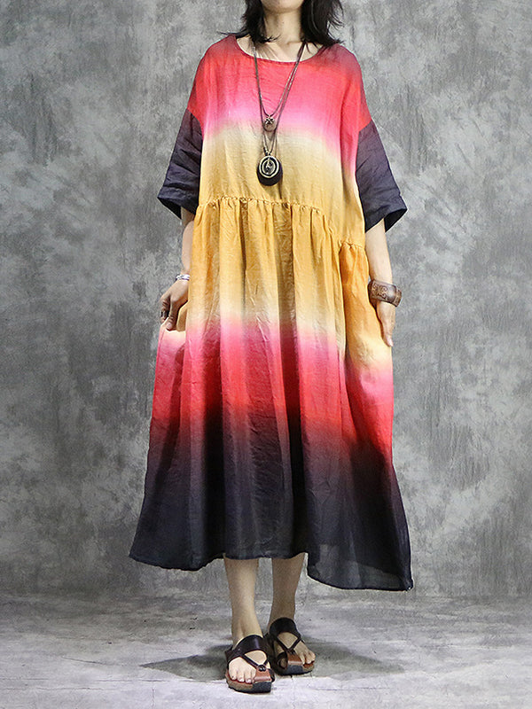 Alexandrine Blending Gradient A-line Dress