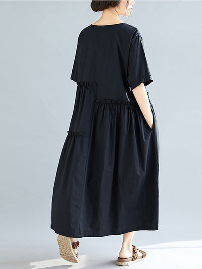 Jade Asym Gathering A-Line Dress