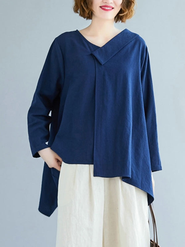 Veronice High-Low Cotton & Linen Top