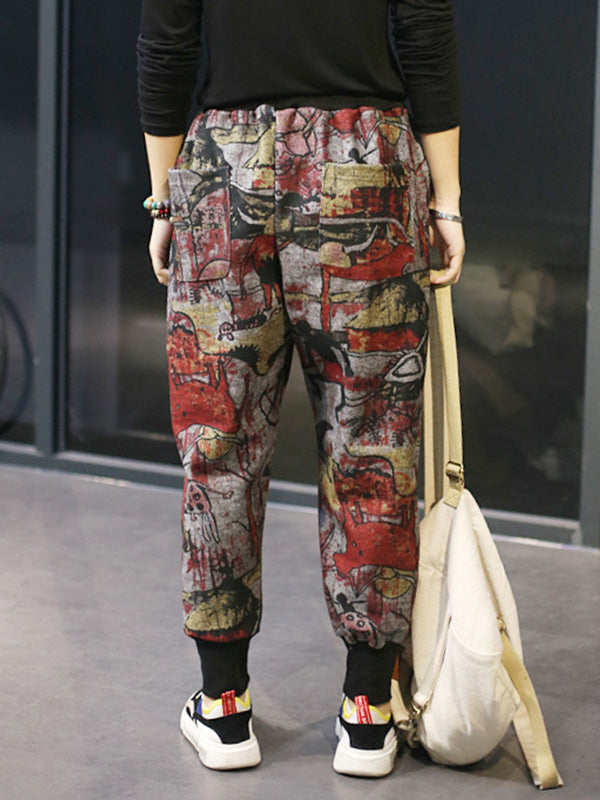 Girl's Crush Graffiti Print Trouser Pants