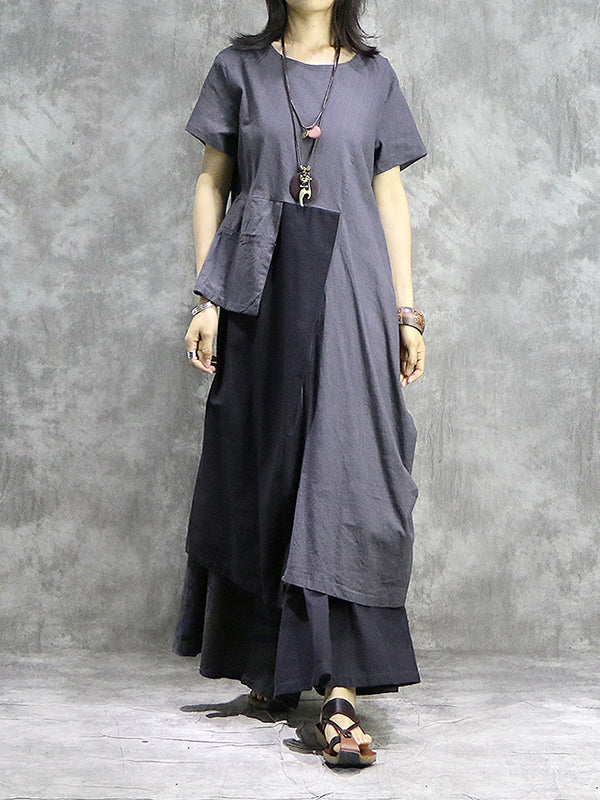 Nevi Jevi Cotton & Linen Midi Dress