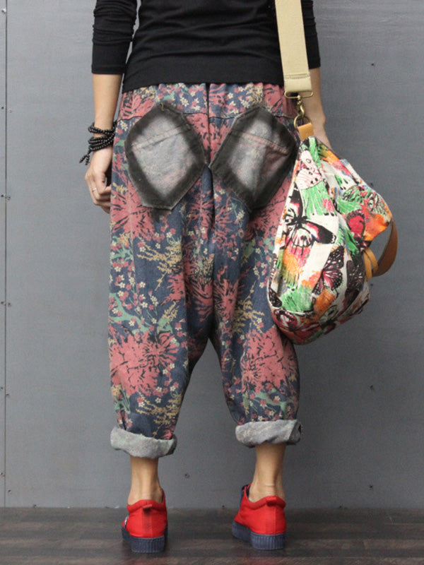 Rakel Printed Patched Trouser Pants