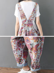 Blooming Flowers Overall Dungaree