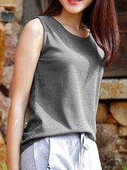 Lovely You Sleeveless Cotton Tank Top