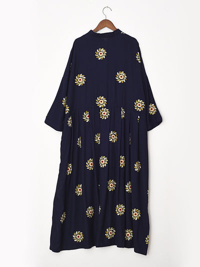 Fanny Flower Print A-line Pankou Dress