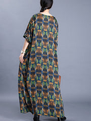 Queen of the Damned Abstract Print Maxi Dress