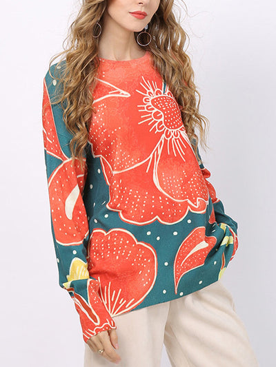 Broken Petal Full-Sleeve T-Shirt