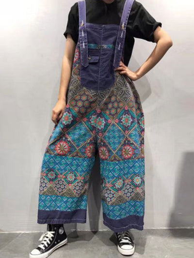 Flowy Functionality Cotton Overalls