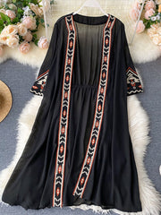Fall in Love Embroidery Lace Kimono Gown