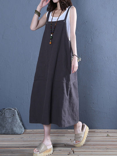 Stay Sassy Overall Midi Dress