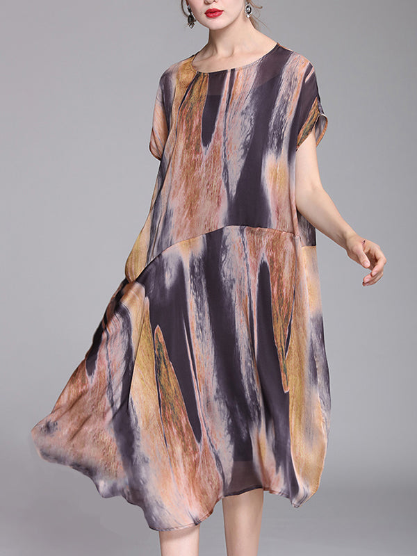Donatella Washing Painting Cloud A-Line Dress