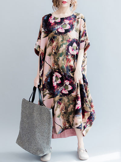 Audrey Floral Dyeing Midi Dress