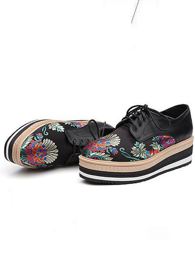 United Floral Sneakers Slugged Bottom Ethnic Women's Shoes