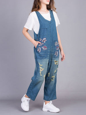 Paradise Flower Overall Dungarees