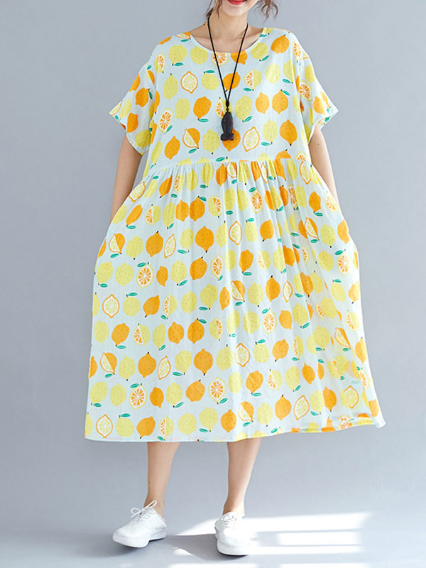 Quirky Personality Cotton Smock Dress
