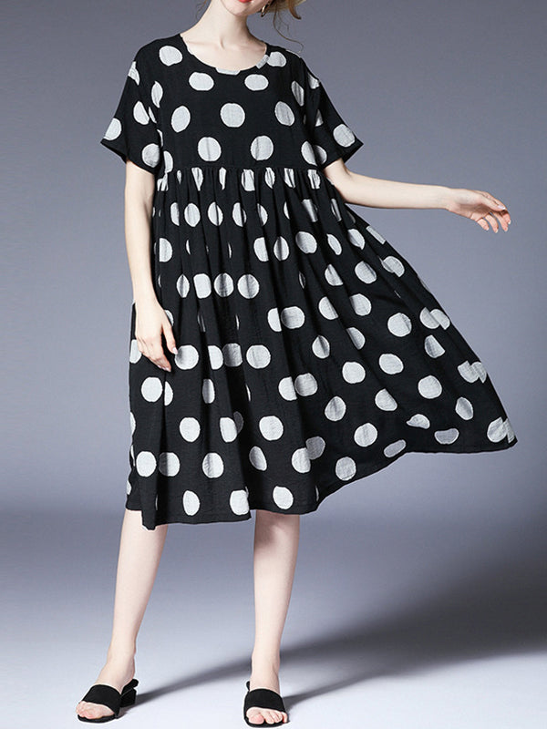 Polka Folks Smock Dress