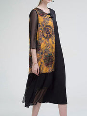 Ornament Arabesque Shift Dress