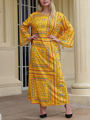 Ethnic Appeal Plus Size Maxi Dress
